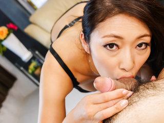 Busty Reiko Kobayakawa insolent scenes oif naughty porn